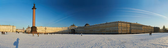 Russia, Saint-Petersburg, 1 march 2016: Palace Square in winter Stock Photos