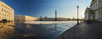 Russia, Saint-Petersburg, 1 march 2016: Palace Square in winter Royalty Free Stock Image