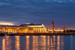 Russia, Saint-Petersburg, 19 May 2016: Timelapse of water area of Neva River at sunset Royalty Free Stock Photos