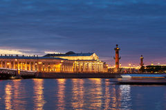 Russia, Saint-Petersburg, 19 May 2016: Timelapse of water area of Neva River at sunset Royalty Free Stock Photography