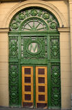 Russia Saint Petersburg Metro Entrance. Side door of Kirovskyi Zavod Metro Station in Saint Petersburg, one of the beautiful stations build in the 50's of last Stock Photography