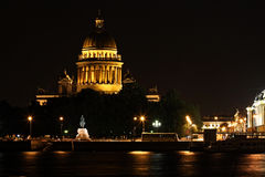 Russia: Saint Petersburg by Night Royalty Free Stock Photography