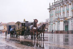 Russia, Saint-Petersburg, Palace Square. The arch of the Main Staff Royalty Free Stock Photography