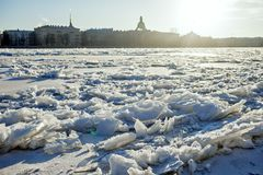 Russia, Saint-Petersburg. View of the city. Russia, Saint-Petersburg. View of the daylight city Royalty Free Stock Image