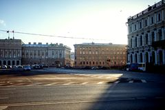 Russia, Saint-Petersburg. View of the city. Russia, Saint-Petersburg. View of the daylight city Royalty Free Stock Images