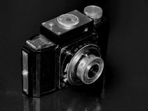 Russia. Samara. April 30, 2017. The old film camera firm of the change on a retro image Stock Images