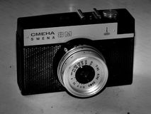 Russia. Samara. April 30, 2017. The old film camera firm of the change on a retro image Royalty Free Stock Images