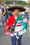 Samara, July 2018: Fans of the Mexican national football team are sick during the FIFA 2018 World Cup. Russia, Samara, July 2018: Fans of the Mexican national stock photos