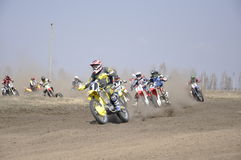 Russia, Samara motocross start Royalty Free Stock Photos