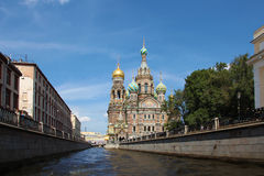Russia. Sankt Petersburg. Savior-on-the-blood temple Stock Photos