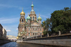 Russia. Sankt Petersburg. Savior-on-the-blood temple Royalty Free Stock Image