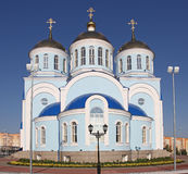 Russia. Saransk. Church in center of city. Russia. Republic Mordovia. St. Theodor Ushakov cathedral during summer Stock Image