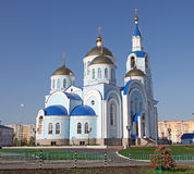 Russia. Saransk. Church in center of city. Russia. Republic Mordovia. St. Theodor Ushakov cathedral during summer Stock Images