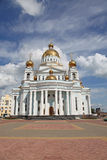 Russia. Saransk. St. Theodor Ushakov`s cathedral. Russia. Republic Mordovia. St. Theodor Ushakov cathedral during summer Royalty Free Stock Image