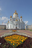 Russia. Saransk. St. Theodor Ushakov`s cathedral. Russia. Republic Mordovia. St. Theodor Ushakov cathedral during summer Stock Photography