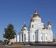 Russia. Saransk. St. Theodor Ushakov`s cathedral. Russia. Republic Mordovia. St. Theodor Ushakov cathedral during summer Royalty Free Stock Photo