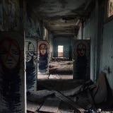 Russia scary hospital. Russia abandoned scary hospital stock photos