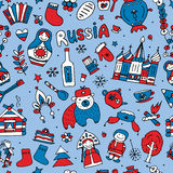 Russia, seamless pattern for your design Royalty Free Stock Photos