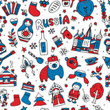 Russia, seamless pattern for your design Stock Photos