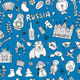 Russia, seamless pattern for your design Royalty Free Stock Photography