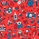 Russia, seamless pattern for your design Stock Image