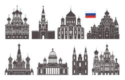 Free Russia Set. Isolated Russia Architecture On White Background Stock Images - 112993034