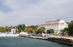 RUSSIA,SEVASTOPOL - SEPTEMBER 18,2014: Artillery Bay, view of  Palace of childhood and youth , Sevastopol,  Russia. Stock Photo