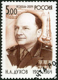 RUSSIA - 2004: shows Birth Centenary of N.L. Dukhov (1904-1964), designer Royalty Free Stock Image