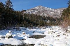 Russia, Siberia, Eastern Sayan mountains, the Kyngarga river win Stock Images