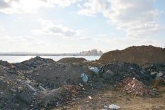 Russia, Siberia, Irkutsk, violation of environmental ecology of lake Baikal Royalty Free Stock Photography