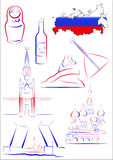 Russia sights and symbols Stock Photography