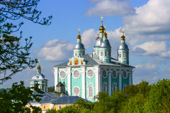 Russia, Smolensk, the Cathedral of the Assumption of the Blessed Stock Photo