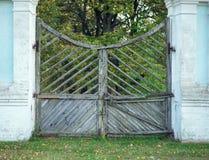 Russia, Smolensk region Griboyedov Manor Hmelita, the old main gate. Griboyedov Manor Hmelita, the old main gate. The plan royalty free stock photo