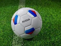 Russia soccer ball Stock Photo