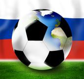 Russia Soccer Design. Creative Graphic Design illustration Royalty Free Stock Images