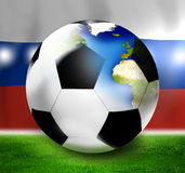 Russia Soccer Design Stock Images