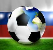 Russia Soccer Design. Creative Graphic Design illustration Stock Images