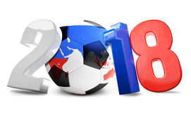 Russia soccer football ball 3d render. Elements of this image fu Royalty Free Stock Photos
