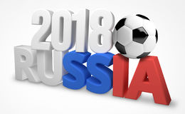 2018 russia soccer football ball. Graphic Royalty Free Stock Photos