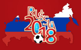 Russia 2018 Soccer Football. 3D Render Royalty Free Stock Photography