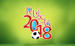 Russia 2018 Soccer Football 3D Render. Graphic Royalty Free Stock Photography