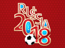 Russia 2018 Soccer Football 3D Render. Graphic Stock Photos