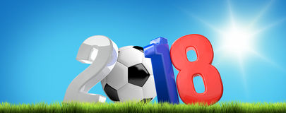 2018 russia soccer football 3d render. Illustration Royalty Free Stock Photography