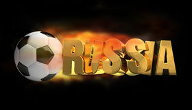 Russia soccer football 3d render. Illustration Stock Photo