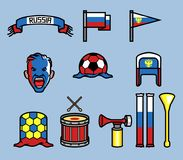 Free Russia Soccer Supporter Gear Set Royalty Free Stock Photography - 115776677