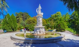 RUSSIA, SOCHI, AUGUST 30, 2015: Fountain `Fairy Tale` at the Arboretum, Sochi, Russia, August 30, 2015. Royalty Free Stock Photos