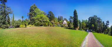 RUSSIA, SOCHI, AUGUST 30, 2015: Panoramic view of the Arboretum, Sochi, Russia on August 30, 2015. Stock Images