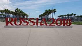 Russia 2018, Sochi, the city hosting the World Cup Royalty Free Stock Photos
