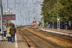 High speed train Lastochka Royalty Free Stock Photography