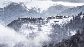 Russia, Sochi, Krasnaya Polyana, Rosa Plateau royalty free stock photo